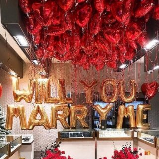 Набор WILL YOU MARRY ME и 50 сердец в потолок